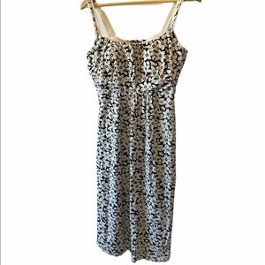 DENVER HAYES Black & White Floral Tank Dress L